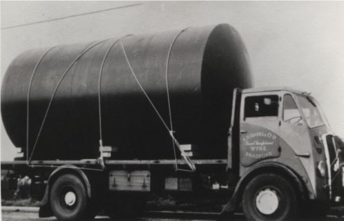 A H Marks ERF wagon with tank c1950s.