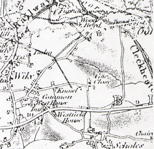 Map of Wyke - middle 19th century.