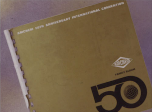 Amchem 50th anniversary convention booklet.