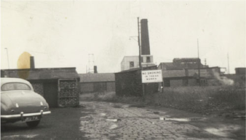 View of Site entrance - late 1950s.