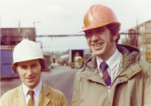 David Naylor, Engineering Manager & Mike Walmsley, Site and Production Manager 1976.