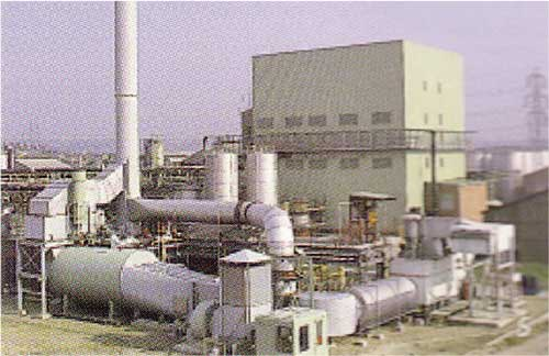 CHP Plant with the new Phenoxy Acid Plant in the background.