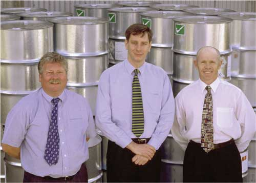 Business Team Managers (L to R:) Tim Shaw, Ian Judd and Mike Baldwin.